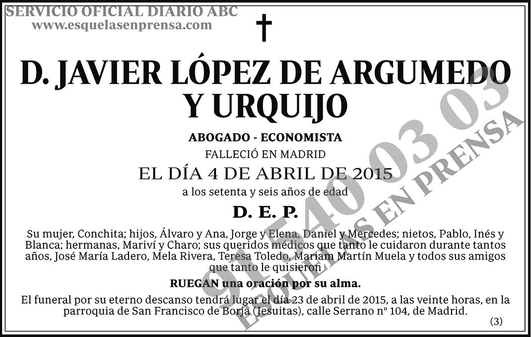 Javier López de Argumedo y Urquijo
